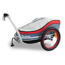 FREETOWN Bike Trailer Kick-Drum Cargo Standard High Quality Carrier (Red/Grey)