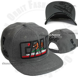 California Republic Baseball Cap Embroidered Cali Hat Snapback Adjustable Men