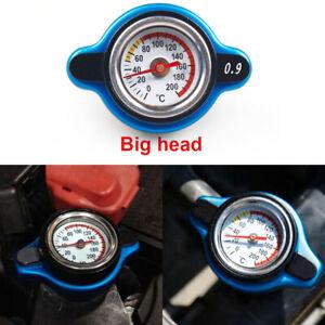 For Racing Thermostatic Gauge Radiator Cap 0.9 bar Big Head Water Temp Meter