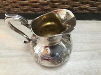 Antique Late 1800s Sterling Silver Repousse Hand Wrought Pitcher 294 Grams