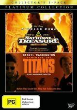 Disney NATIONAL TREASURE / REMEMBER THE TITANS New 2 Dvd NICOLAS CAGE ***