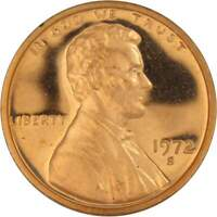 1972 S Lincoln Memorial Cent Choice Proof Penny 1c Coin Collectible