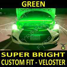 Custom fit Bright Green LED strip light under hood cowl for Hyundai Veloster