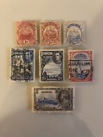 BERMUDA - EARLY ESTATE COLLECTION LOT SET OF 7 USED & UNUSED STAMPS MIXED YEARS