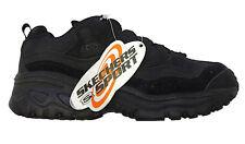 SKECHERS Black Suede ENERGY HYDRO Sneaker HIKING TRAINING SHOES Men 4.5  W 6.5