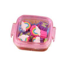 FX- 20 Pcs Rainbow Butterfly Flower Pencil Eraser Rubber School Kids Gift  Healt