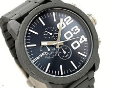 NWT Diesel Men's Oversized Watch DOUBLE DOWN Gray Charcoal Chrono DZ4269 $180