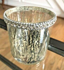 "Pottery Barn Mercury Glass Votive/Tealight Candle Holder 3"""