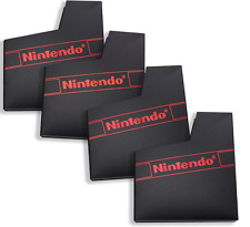4pc Dust Sleeves For Nintendo NES Game Cartridge NES Dust Lot Case Cover w/ Logo