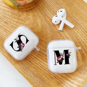Flower letter Transparent Protector Cover For AirPods 1st/2Gen Earphone Case