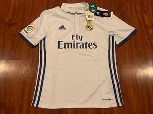 2016-17 Adidas Real Madrid YOUTH Home Soccer Jersey Medium M La Liga BOYS