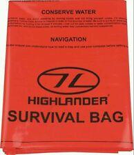Highlander emergency survival bag (90×180cm) Orange