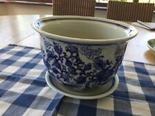 Blue And White Pottery Jardiniere