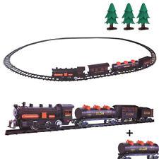 Train Electrique de Noël 24 Pièces - Train Express -  Locomotive, 4 wagons...