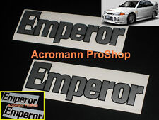2x 8.5inch 21.6cm Emperor Decal Sticker Initial D Evolution EVO III IV RS V VI X