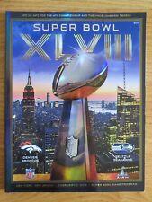 DENVER BRONCOS vs SEATTLE SEAHAWKS Super Bowl XLVIII Program MALCOLM SMITH MVP
