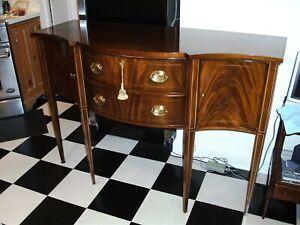 Hickory Chair Furniture Hepplewhite Inlaid Mahogany Sideboard