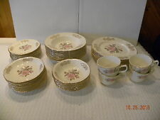 Homer Laughlin 43 piece Dinner Set Queen Esther Pattern