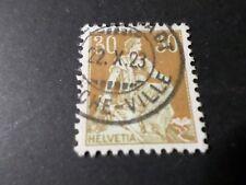 SUISSE, SCHWEIZ, 1907-17, timbre 121, CACHET ROND, HELVETIA, VF STAMP, oblitéré