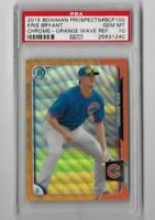 Kris Bryant 2015 Bowman Chrome Prospects Orange Wave Refractor PSA 10--Cubs