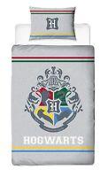 Harry Potter Alumni Hogwarts Crest Panel Single Bed Duvet Quilt Cover Set Gift