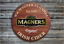 Magners Irish Cider - Barrel End Style Wooden Pub Sign - Hand Made in Ireland