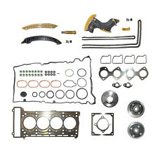 Timing Chain Kit Full Head Gasket Camshaft Adjuster gear for MERCEDES M271 1.8L