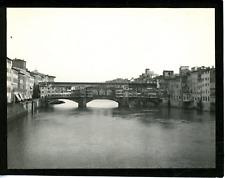 Italie, Florence, ponte Vecchio Vintage silver print,  Tirage argentique  9x
