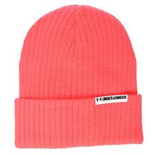 Under Armour UA ColdGear Ladies Boyfriend Cuff Marathon Red Beanie Hat