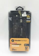 Tough Tested Micro Usb Pro Car Charger 12' Cord Coiled 30 Min Charge- Retail Nw