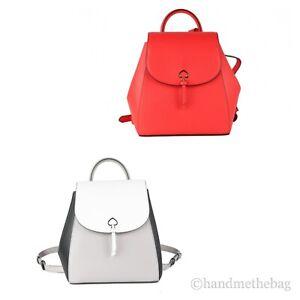 Kate Spade Adel Refined Grain Leather Medium Flap Shoulder Backpack Bookbag