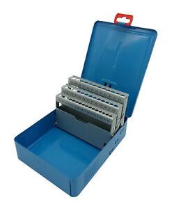 Bohrerkassette LEER für 41 Bohrer 6 - 10 mm Bohrermagazin Metallkassette blau