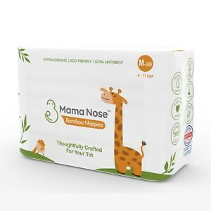 MamaNose Eco-Friendly Nappies-Ultra Absorbent-Sensitive Baby Skin-6-11kg-180