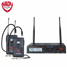 Nady U-2100 GT Dual Channel UHF Wireless Guitar Instrument System Band A and B