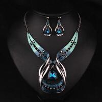 Choker Fashion Chunky Jewelry Statement Women Crystal Chain Pendant Bib Necklace