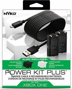 Nyko Xbox One Power Kit Plus - 2X Rechargeable Battery Cover + USB Charing Cable
