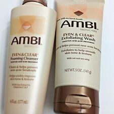 Ambi Even & Clear Exfoliating Wash & Ambi Even & Cleanser Foam Cleaner Skin Care