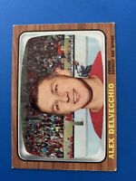 Alex Delvecchio 1966-67 Topps Vintage Hockey Card #102 Detroit Red Wings