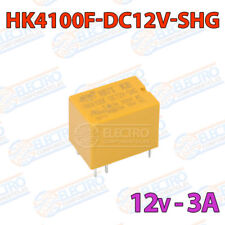 MINI Rele 12v 3A HK4100F-DC12-SHG PCB soldar superficie power relay relé