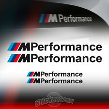 4 adesivi M PERFORMANCE - nero - modelli BMW serie 1, 3, 5 stickers auto car