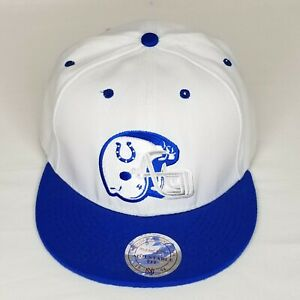 Indianapolis Colts Mitchell and Ness XL Helmet White Blue Snapback Cap Hat