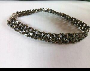 Swarovski black Crystal Choker necklace