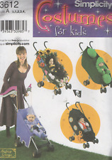 Simplicity 3612 Pattern New, Baby/Toddler Fancy Dress Costume, Pushchair cover