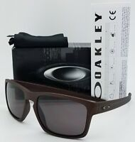 NEW Oakley Sliver sunglasses Corten Warm Grey AUTHENTIC burgundy red 9262-30