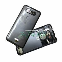 For LG Q8 H970 Rear Glass Back Cover Assembly With Camera Glass & Finger Reader