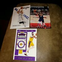 """2019-20 Panini Contenders #7 Anthony Davis Lakers Lot Of 3 """"All Different"""""""