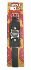 GUNS N ROSES BLACK LEATHER WRIST WATCH NEW SALE NIB OFFICIAL GNR NOS