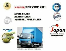 FOR MITSUBISHI CANTER 4.9DT FUSO 8/2006-> OIL AIR FUEL ( 3 ) FILTER SERVICE KIT