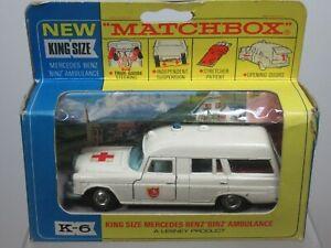 "MATCHBOX KING SIZE MODEL No.K6 -2   "" MERCEDES AMBULANCE ""     VN  MIB"