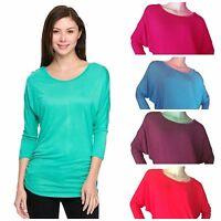 48e2d90a9bf MOA Women's Plus Dolman Sleeve Blouse Shirt Top XL 2XL 3XL